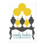 311 Candy Budoir Yellow Gray Large Business Cards (Pack Of 100)