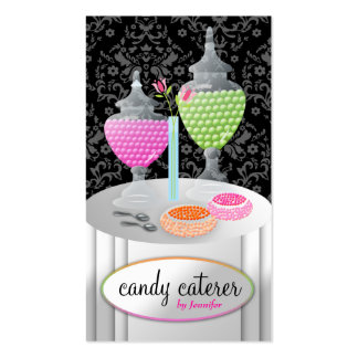 311-Candy Caterer Black Business Card Template