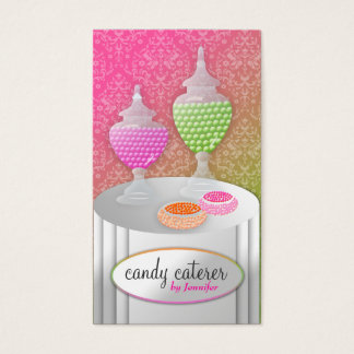 311-Candy Caterer _Candy Only Lollipop Fade Business Card
