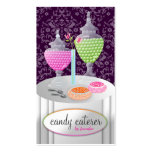 311-Candy Caterer | Dark Purple Business Card