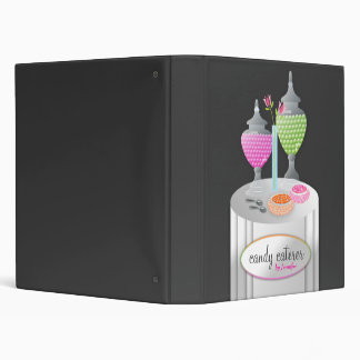 311-Candy Caterer   Gray Vinyl Binder