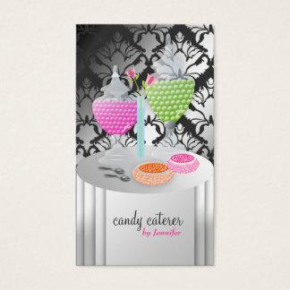311-Candy Caterer Version 2 Damask Shimmer Business Card