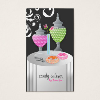 311-Candy Caterer Version 2 Swanky Swirls Business Card