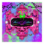 311 Candy Wonderland Pink Sweet 16 5.25x5.25 Square Paper Invitation Card