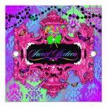 "311 Candy Wonderland Pink Sweet 16 5.25"" Square Invitation Card"