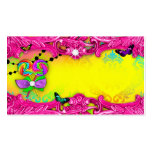 311 Candy Wonderland Pink Sweet 16 Place Cards Business Card Templates