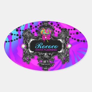 311 Candy Wonderland Zebra Oval Sticker
