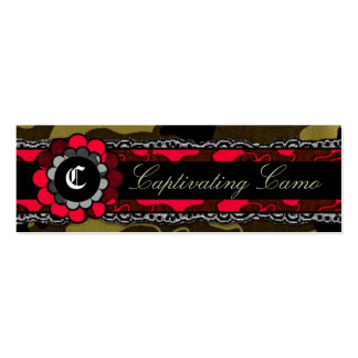 311 Captivating Camo Racy Red Mini Business Card