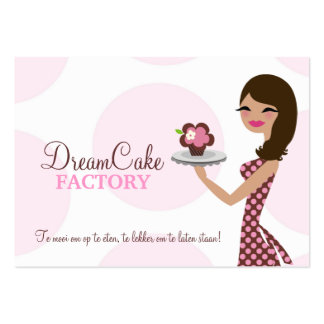 311 Carlie the Cupcake Cutie Brunette BusinessCard Business Cards