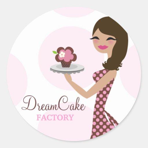 311 Carlie the Cupcake Cutie Brunette Sticker