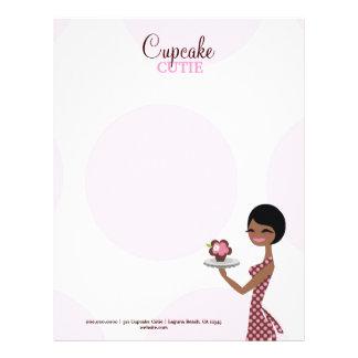 311 Carmella el Brunette de Cutie de la magdalena Membrete A Diseño