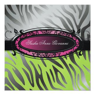311-C'est Luxueux | Hot Lime Zebra | Sweet 16 Card