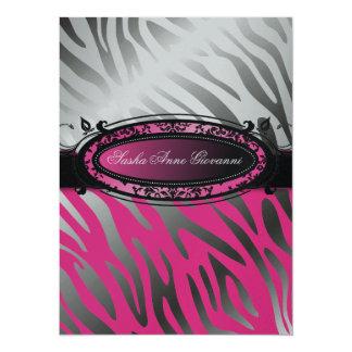 311 C'est Luxueux   Hot  Pink Zebra   Sweet 16 Card