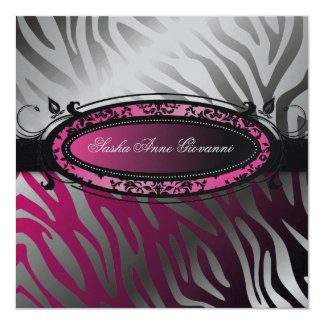 311-C'est Luxueux | La Femme Pink Zebra | Sweet 16 Card