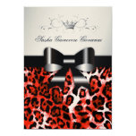 """311 Chic Cherry Red Leopard Bow 
