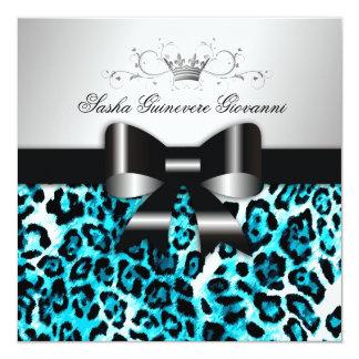 311- Chic Hot Beach Leopard Bow  | Sweet 16 Card