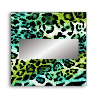 311 Chic Leopard Turquoise Lime Envelopes