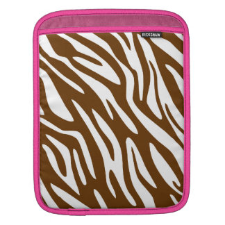 311 Chocolate Brown Zebra Pink Trim iPad Sleeve