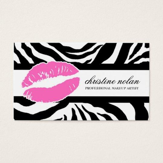 311-Christine Kiss Light Pink | Zebra Business Card