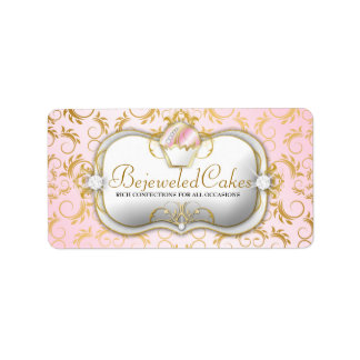 311-Ciao Bella Bejeweled Cakes | Pink Background Label