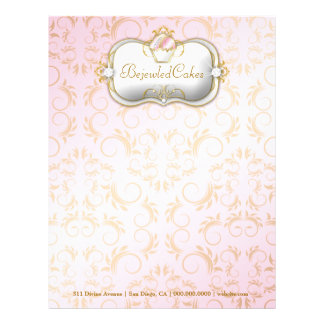 311 Ciao Bella Bejeweled Cakes | Pink Background Letterhead