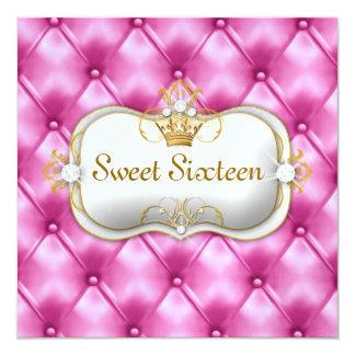 311 Ciao Bella Bliss Pink Tuft 5.25x5.25 Square Paper Invitation Card