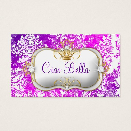 "311 Ciao Bella ""Electric Raspberry"" Vintage Chic Business Card"