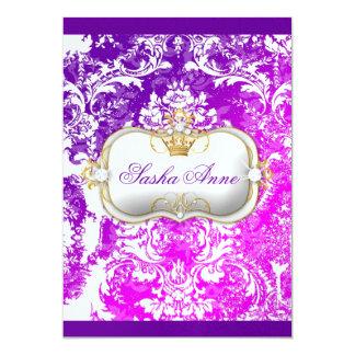 "311 Ciao Bella ""Electric Raspberry"" Vintage Chic 5x7 Paper Invitation Card"