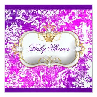 """311 Ciao Bella """"Electric Raspberry"""" Vintage Chic 5.25x5.25 Square Paper Invitation Card"""