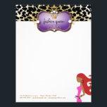 "311 Ciao Bella Fashionista Purple Red Hair Letterhead<br><div class=""desc"">Design by Jill McAmis,  copyright 2015</div>"