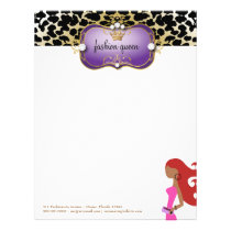 311 Ciao Bella Fashionista Purple Red Hair Letterhead