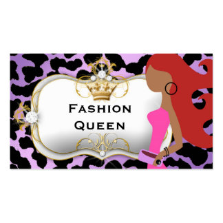 311 Ciao Bella Fashionista Red Hair Double-Sided Standard Business Cards (Pack Of 100)