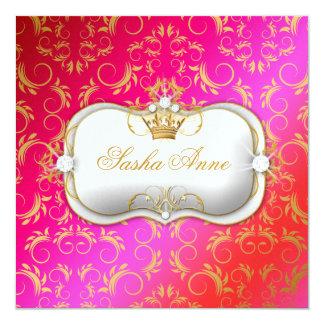 311 Ciao Bella Golden Cherry Cake Kiss 5.25x5.25 Square Paper Invitation Card