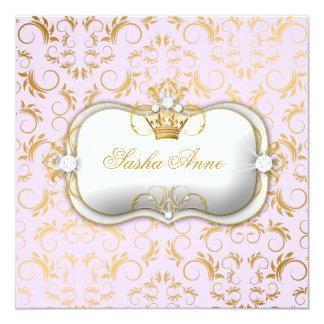 311 Ciao Bella Golden Divine Lilac 5.25x5.25 Square Paper Invitation Card