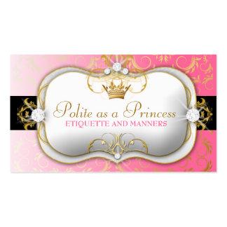 311-Ciao Bella Golden Divine Pink Business Card Template
