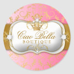 311 Ciao Bella Golden Divine Pink Fade Classic Round Sticker