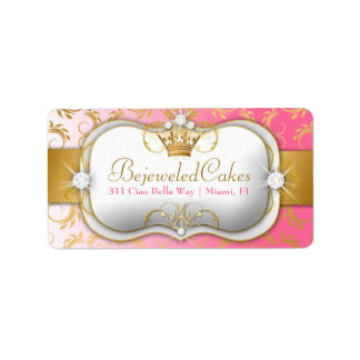311 Ciao Bella Golden Divine Pink Fade Address Label