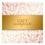311-Ciao Bella Golden Divine Pink Gift Certificate Invite