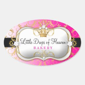 311 Ciao Bella Golden Divine Pink Oval Sticker