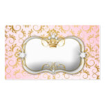 311 Ciao Bella Golden Divine Pink Place Setting Business Card Templates