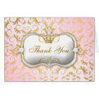 311 Ciao Bella Golden Divine Pink Thank you Card