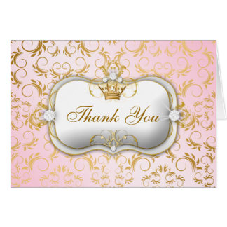 311 Ciao Bella Golden Divine Pink Thank you Stationery Note Card