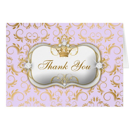 311 Ciao Bella Golden Divine Pink Thank you Lilac Card