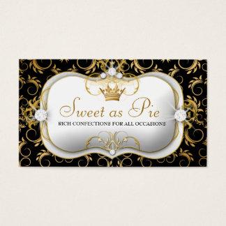 311-Ciao Bella Golden Divine Rich Black Business Card