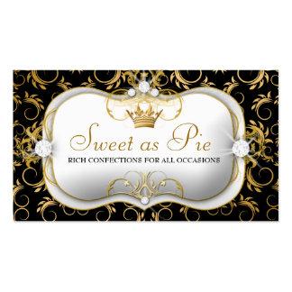 311-Ciao Bella Golden Divine Rich Black Business Cards