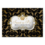 311-Ciao Bella Golden Divine Rich Black Greeting Cards