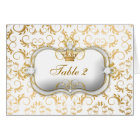 311 Ciao Bella Golden Divine White Table Cards