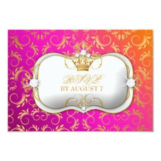 311 Ciao Bella Golden Divine Wild Sunset RSVP 3.5x5 Paper Invitation Card