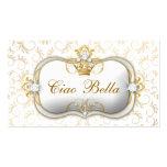 311 Ciao Bella Golden White Divine Business Cards