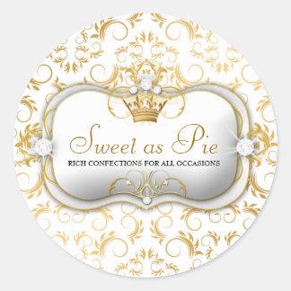 311-Ciao Bella Golden White Divine Classic Round Sticker